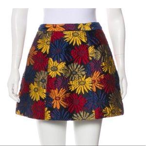 Alice + Olivia Floral Mini Skirt
